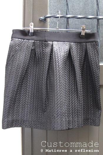 SOLDES jupe noire Custommade