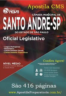 Apostila Câmara Municipal de Santo André (SP) Oficial Legislativo.