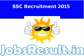 SSC Recruitment 2015