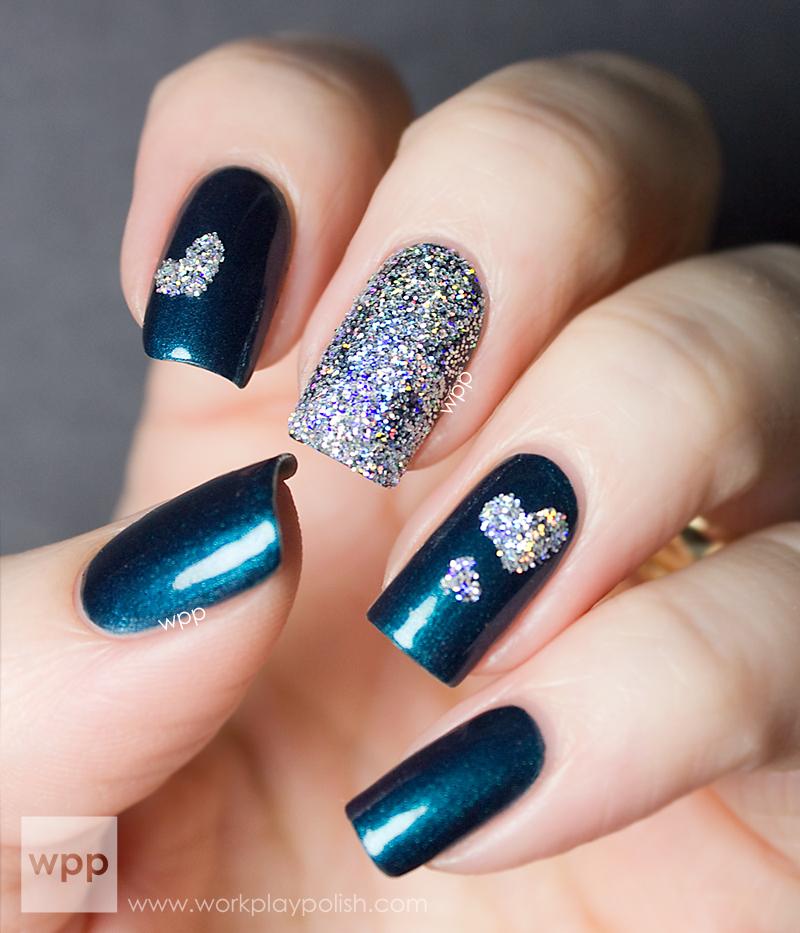 BA STAR Silver Holo Glitter Nails