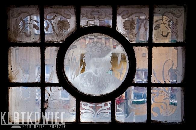 Zgorzelec: miasto witraży - cz. 3 - secesyjny witraż z twarzą kobiety