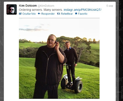 Kim Dotcom en twitter