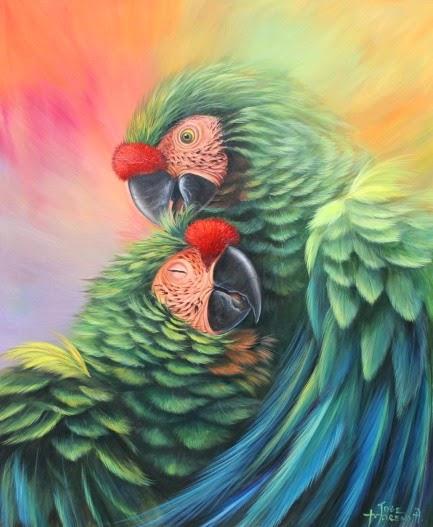 oleos-guacamayos-cuadros