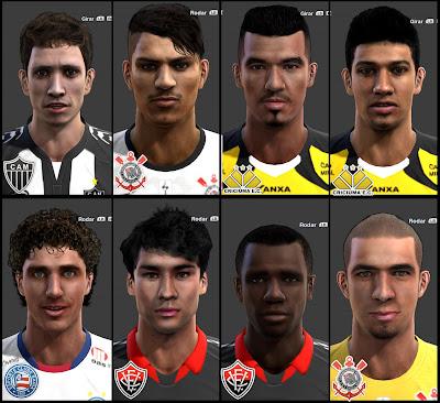 Bernard, Guerrero, Zé Carlos, Lucca, Neto, Pedro Ken, Willie e Danilo Fernandes Faces - PES 2013