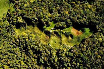 Τα απομεινάρια του Butte de Vaquois, Γαλλία
