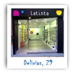 Fachada de la tienda de la calle Delicias