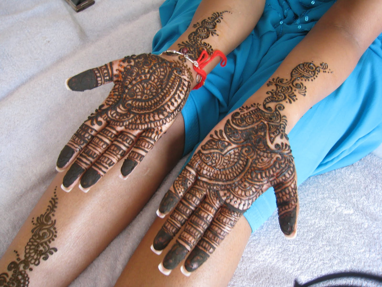 Mehndi Bridal Pics : Arabic bridal mehndi designs desings