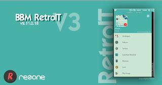 New BBM Mod Versi 2.11.0.18 Tema Retroit V3 Apk