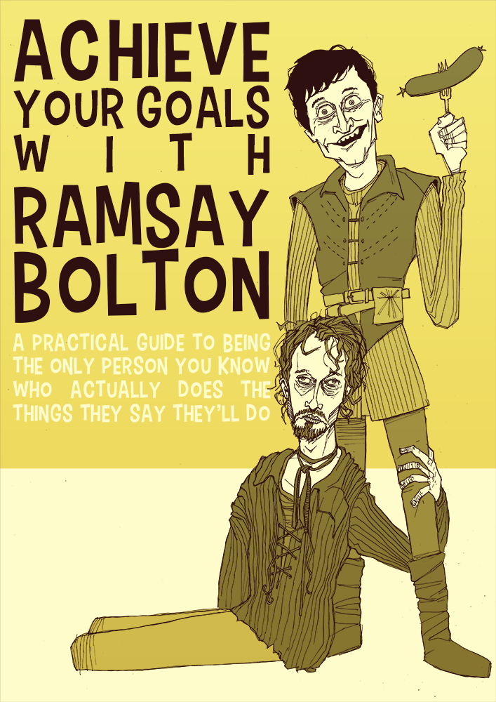 poster art Game of Thrones Rmasay Bolton and Reek drawing