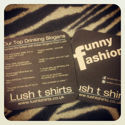 LushTshirts.co.uk beer mats funny rude