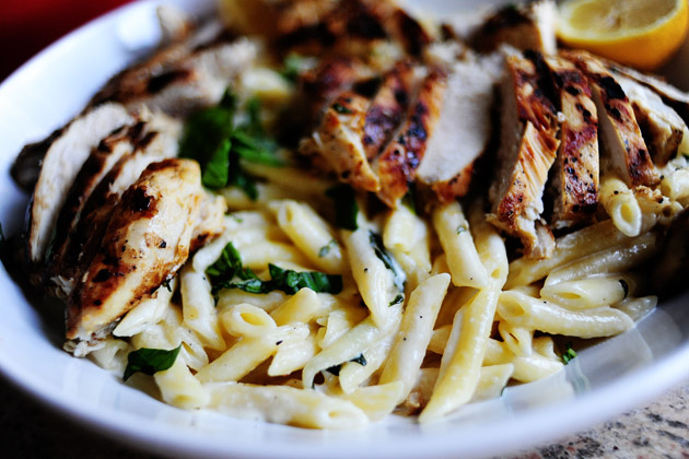 Grilled Chicken with Lemon Basil Pasta ~ Delicious Food ...