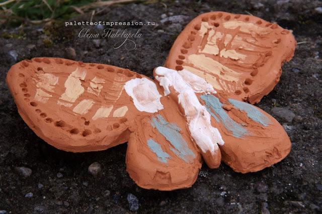 Керамические бабочки Мугур Молочный обжиг Блог Вся палитра впечатлений Ceramics Palette of impression blog