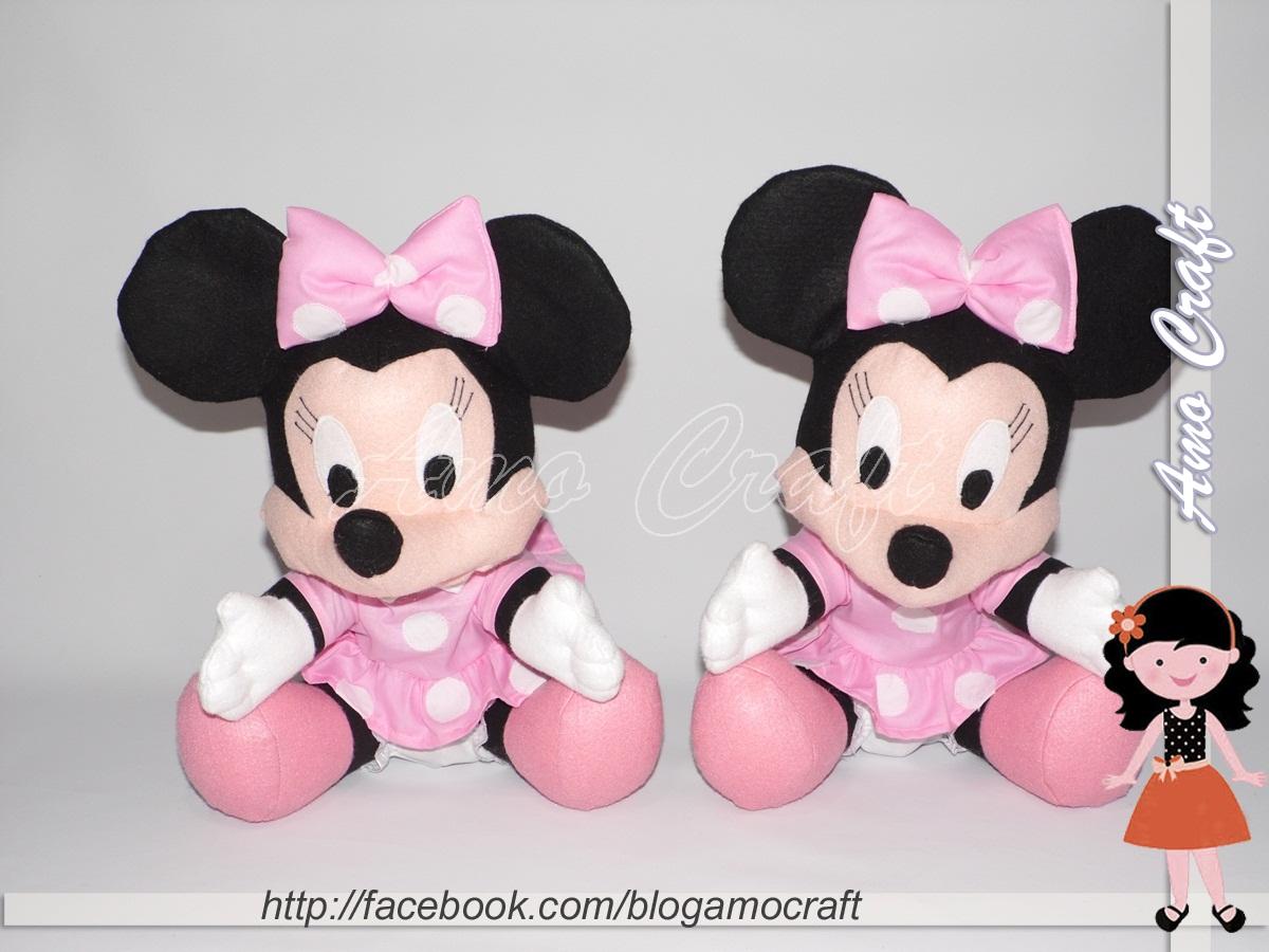 Preferência AMO CRAFT: Minnies e Mickey em feltro RQ24