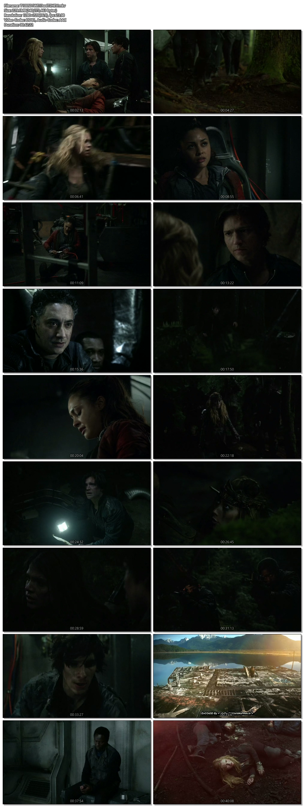 Screenshots Of Hindi Dubbed Show The 100 2014 S01E13 300MB 720P HD