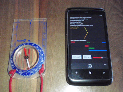 HTC Trophy 7 Compass Magnetic Declination