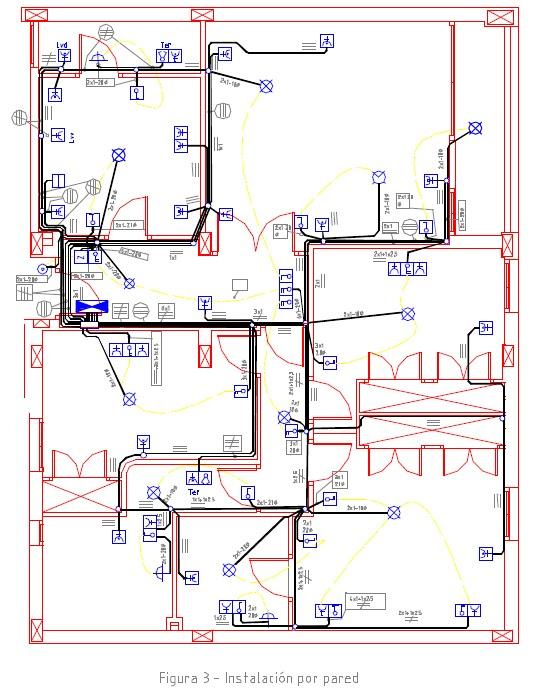 Representaci n gr fica en planos de instalaciones for Plano instalacion electrica
