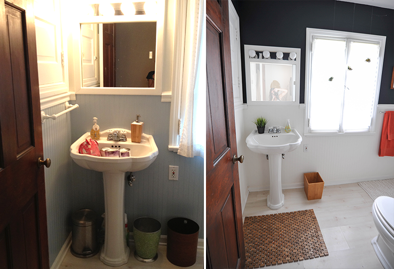 Before and After DIY Modern Bathroom Renovation