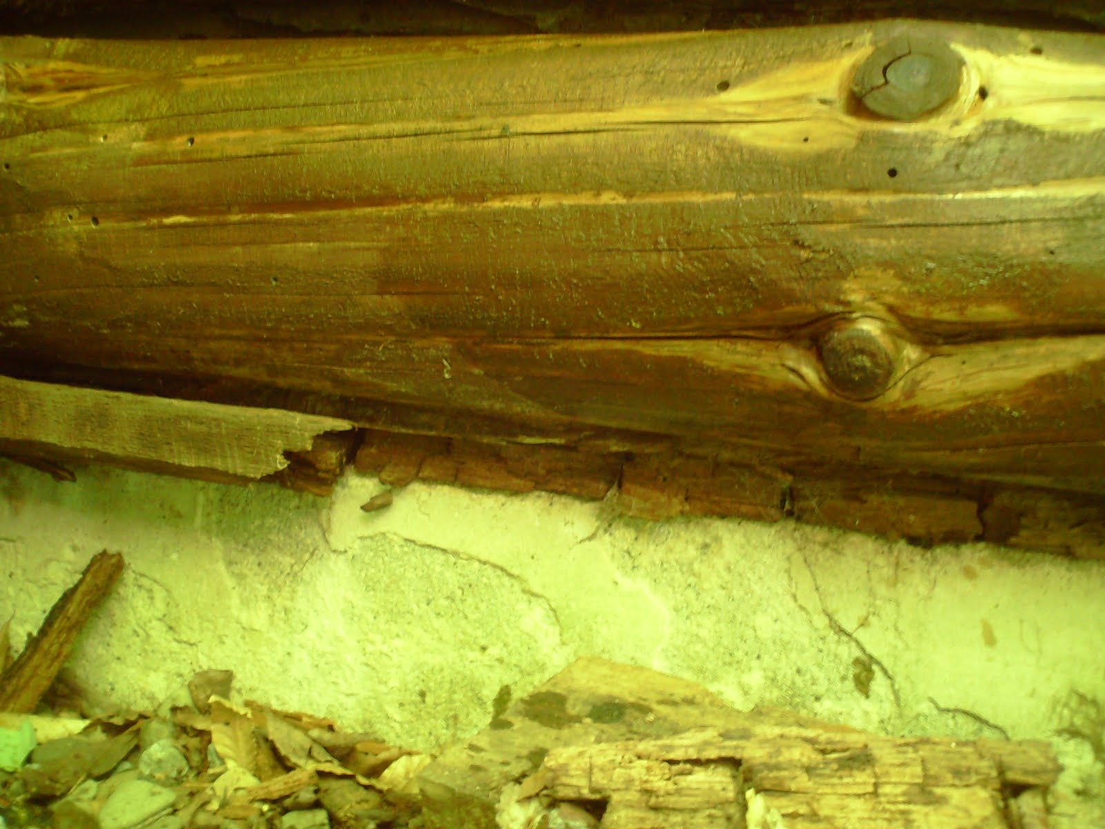 how to fix rotted logs in a log cabin