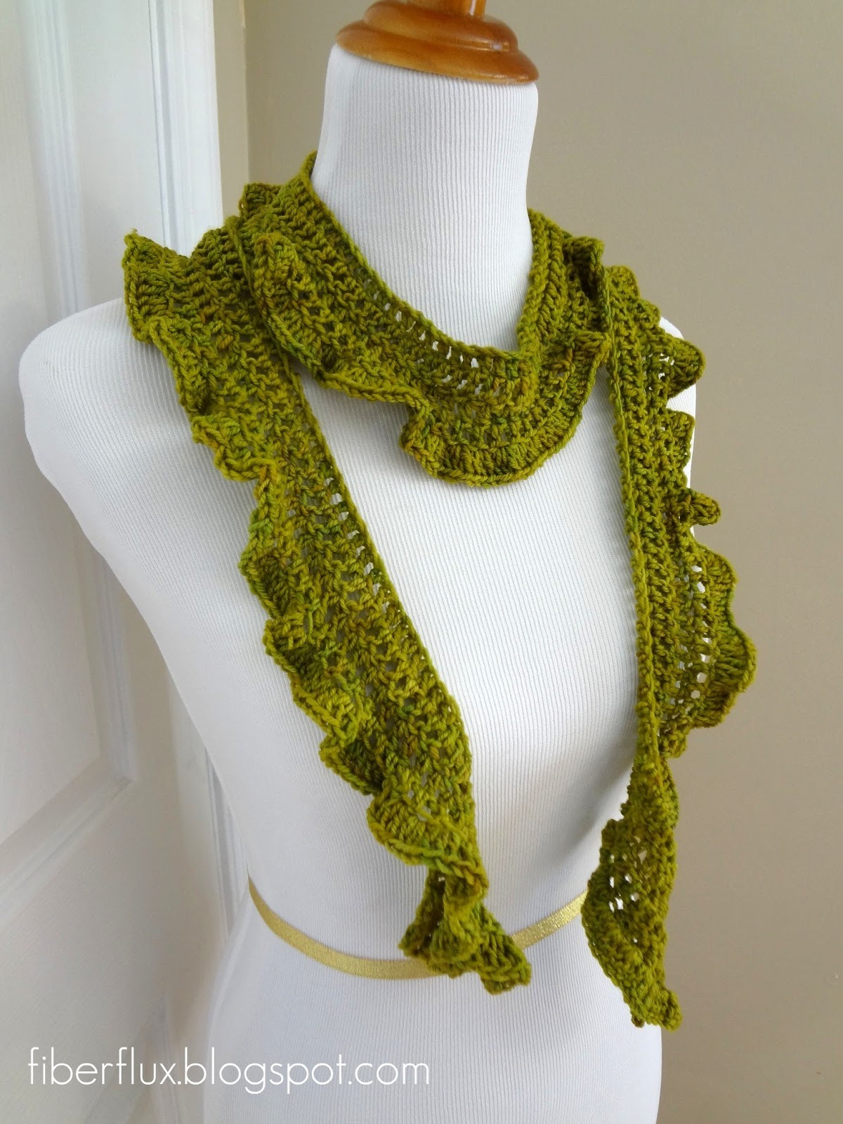 Free Crochet Patterns For Lightweight Scarves : Fiber Flux: Free Crochet Pattern... Arugula Scarf