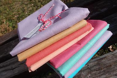 colourful fabrics mini pile s- fat quarter quartets
