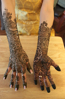 Full Hand Latest Bridal Mehndi Design 2012