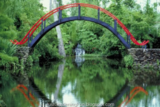 Gorgeous Southern_Red Bridge Over Pond in Huntsville Alabama