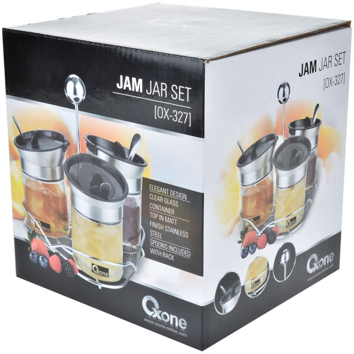 OX-327 Jam Jar Set Oxone 3Pcs - Stainless