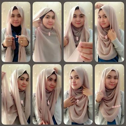 Foto Tutorial Hijab Modern Syari Terbaru 2015