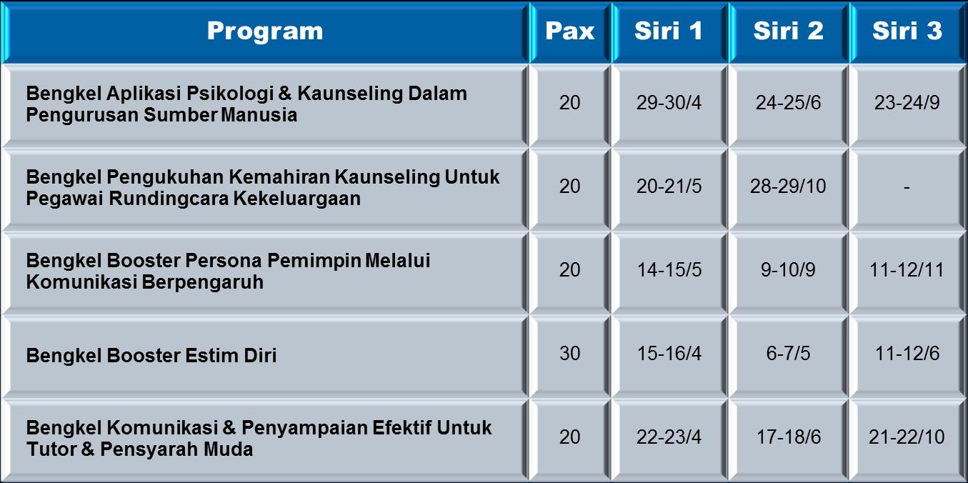 Kalendar Program 2014