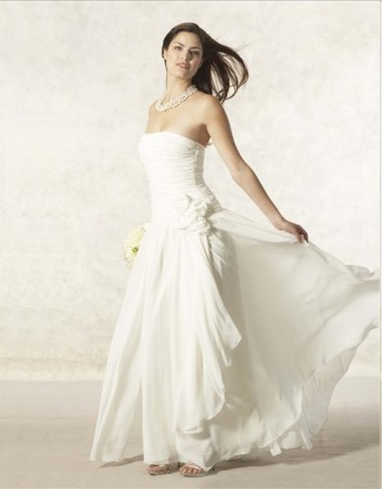Short White Wedding Dresses Jessica Mcclintock Mother Of The