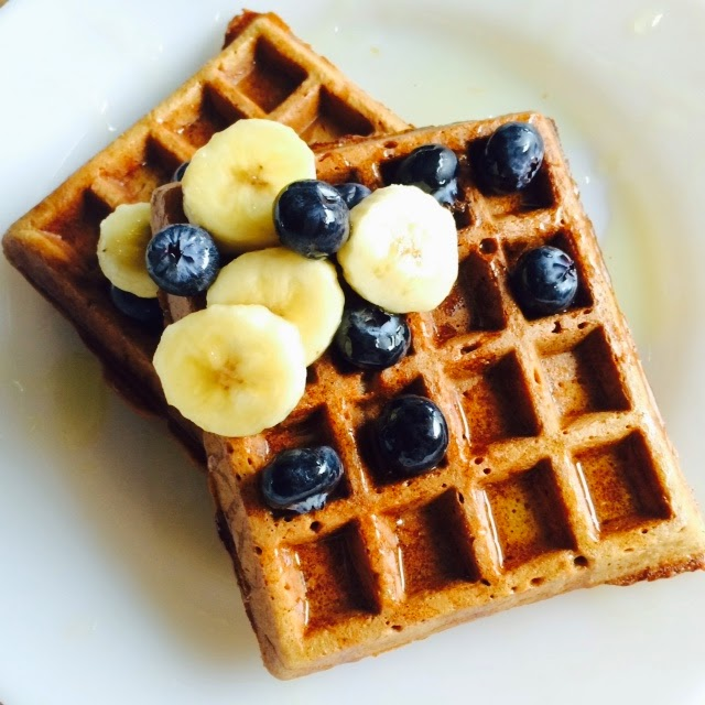 Homemade Crispy Healthy Chia & Applesauce Waffles