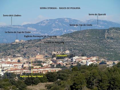 La Serra d'Ensija-Rasos de Peguera omplin l'horitzó