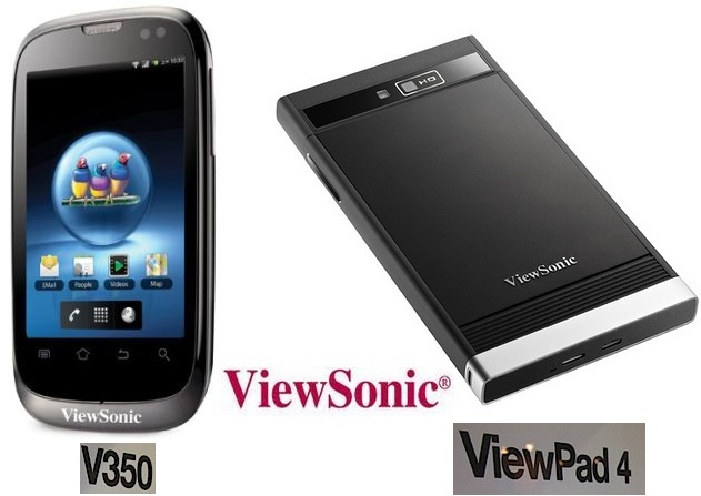 Viewsonic V350 & Viewpad 4 : Upcoming Dual Sim Smartphone