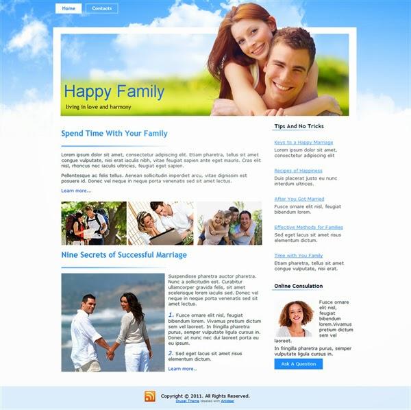 Happy Family - Free Drupal Theme