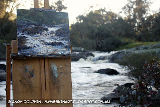 Plein air location photo, rapids