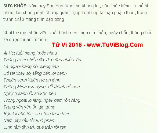 Tu Vi At Hoi Nam 2016