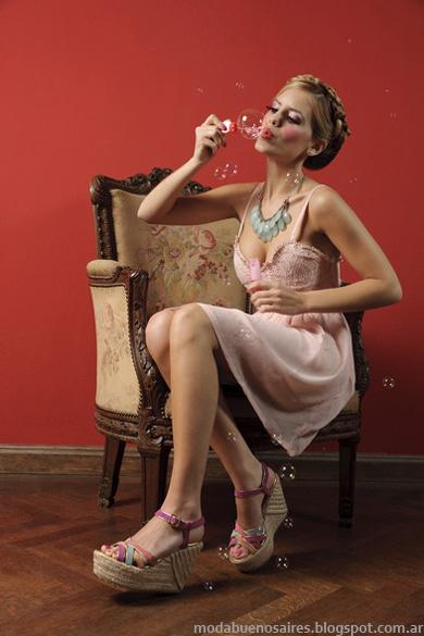 Zapatos, sandalias y chatitas 2014. Moda 2014 Calzado Femenino. Colección Laura Constanza verano 2014.