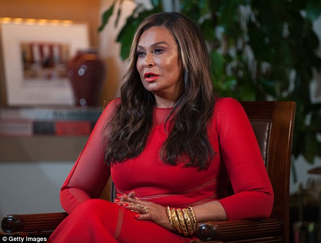 Beyonce's Mum, Tina Knowles Stuns In Red As She Steps Out With New Husband