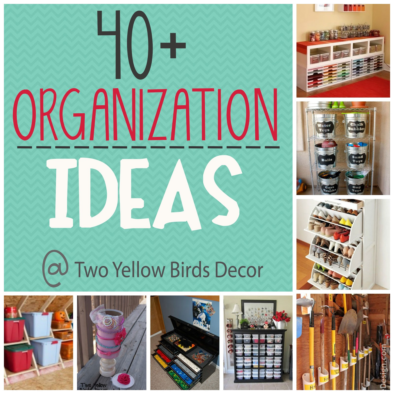 Two yellow birds decor organize your home round up Organizing your home