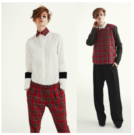 Preen Pre-fall 2013, Menswear, Plaid, Tartan, Tailoring, fashion, style, look, vest