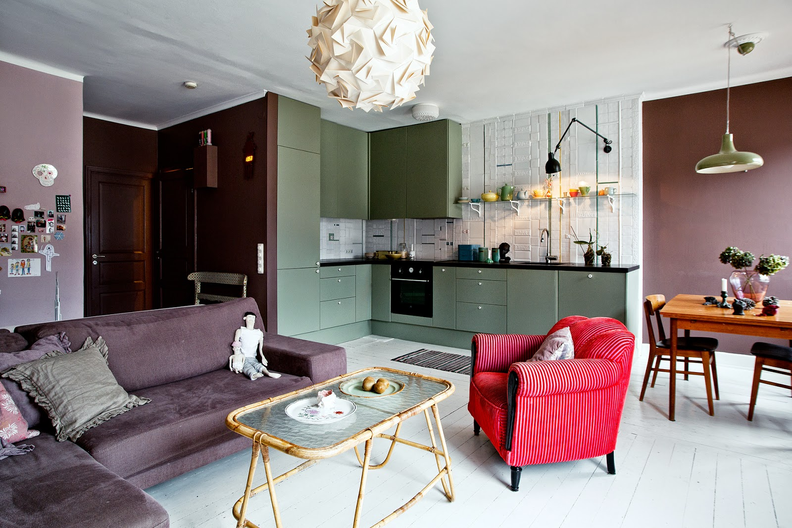 Kreativa kvadrat ab: weekly inspiration! en färgglad lägenhet via ...