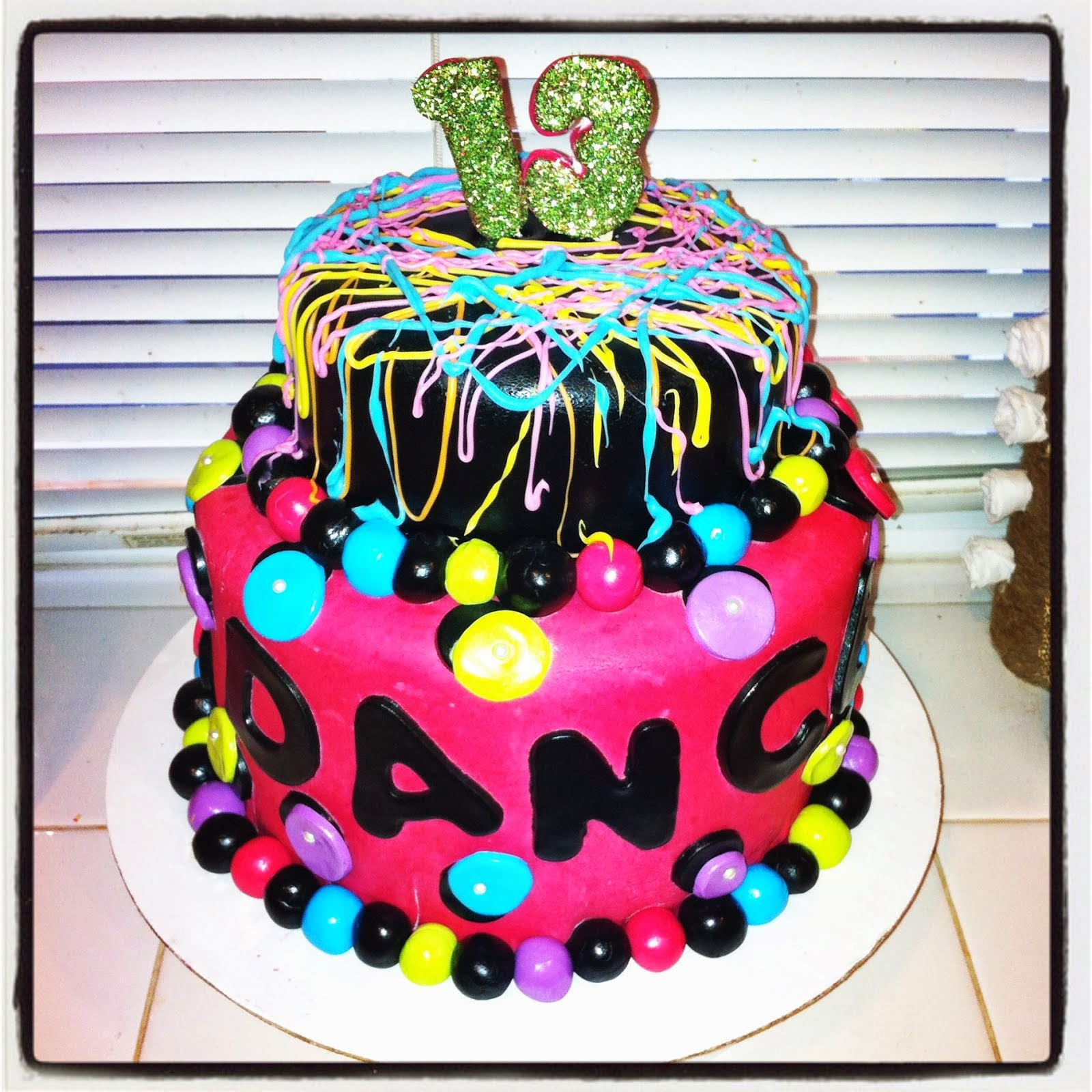 NEON DANCE PARTY CAKE