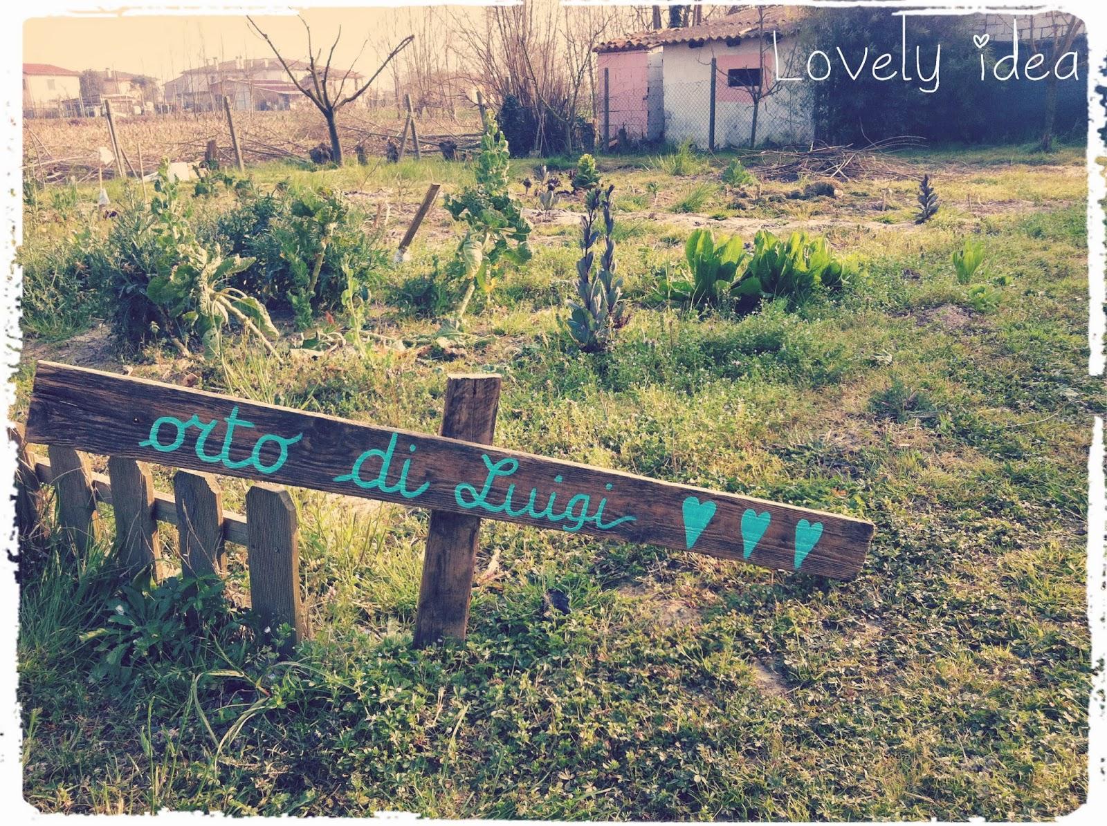 vintage sign garden