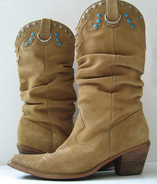 Good Closet: STEVE MADDEN BROWN SUEDE LEATHER COWBOY BOOTS WOMENS ...