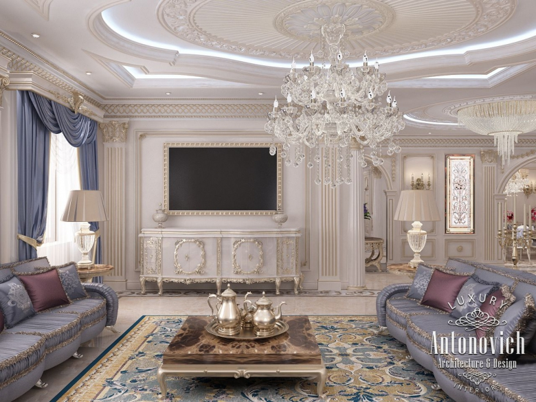 Luxury antonovich design uae french style in the interior for American classic interior design