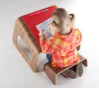 Taula escriptori i cadira per nens Tim Spenser