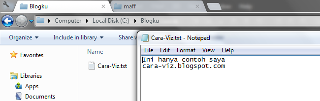 Cara Membuka Commands Melalui Address Bar pada Windows Explorer