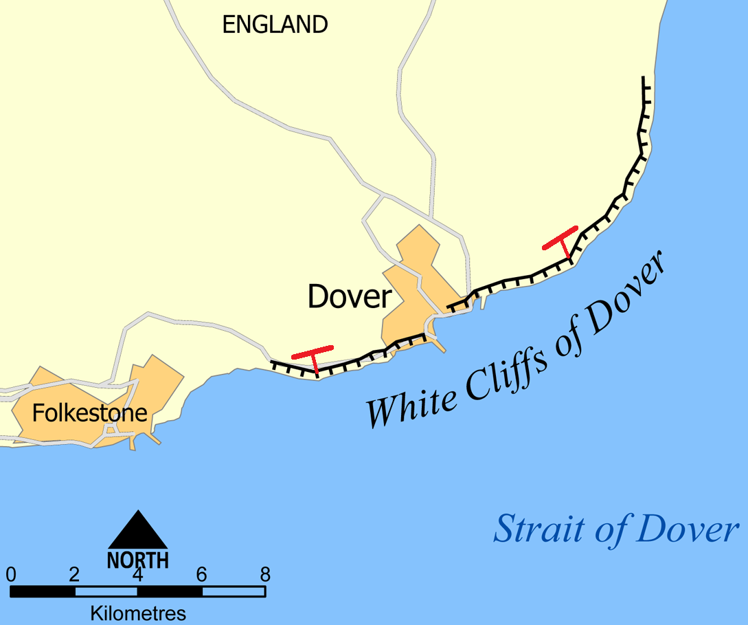 Strait Of Dover Map  Wwwgalleryhip  The Hippest Pics