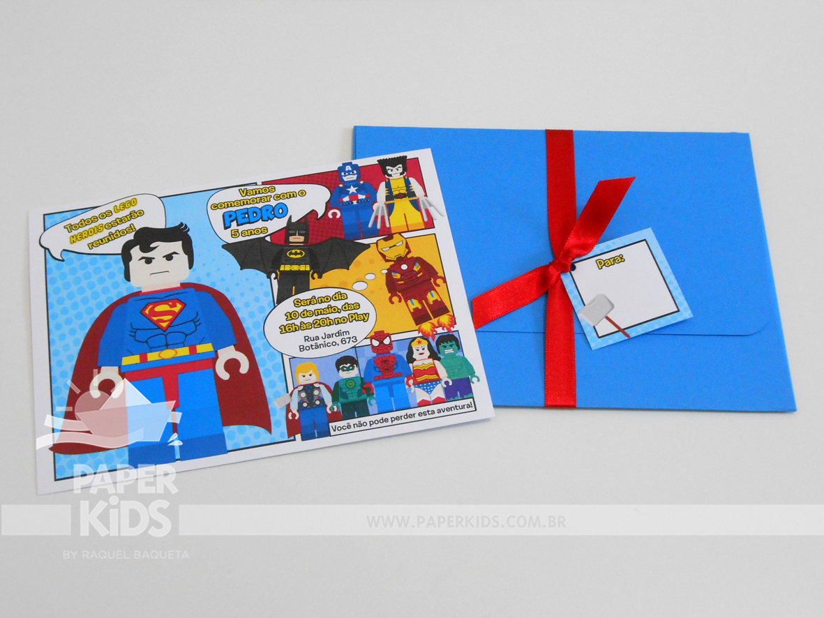 Paper Kids Party Shop Festa Lego Marvel Super Herois