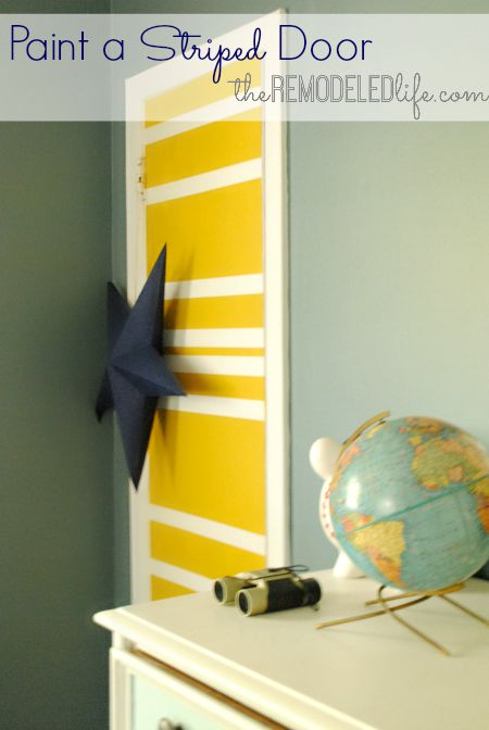 The Remodeled Life: Painting Stripes on a Door